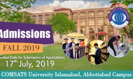 COMSATS Admission Entry Test Guide 2019-2020