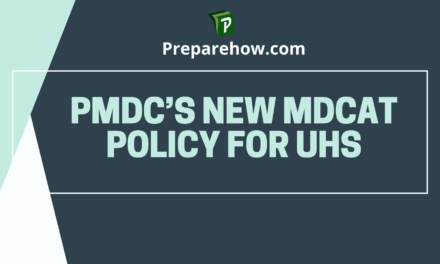 PMDC's new MDCAT policy for UHS: