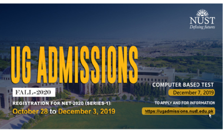 NUST Entry Test 2020-2021 All You Need To Know