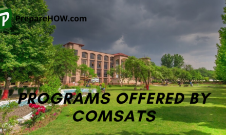 Programs Offered by Comsats University