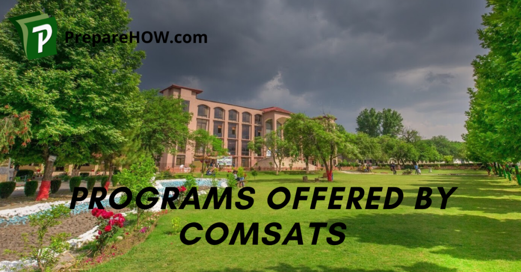 Programs offered by COMSATS