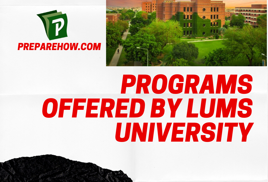 Programs Offered by LUMS University
