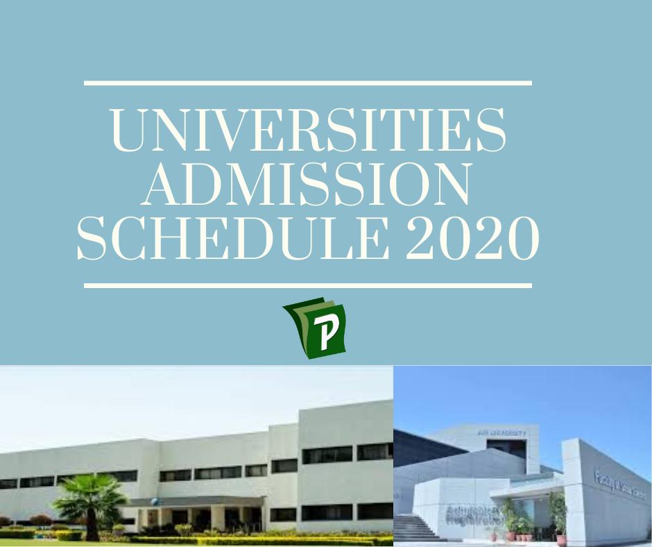 Admission schedule