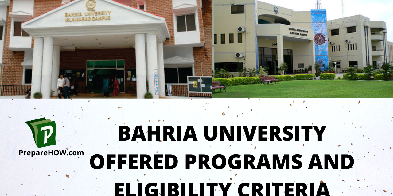 Bahria University Offered Programs and Eligibility Criteria