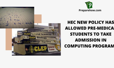 HEC NEW POLICY has allowed pre-medical students to take admission in computing programs