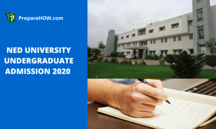 NED University undergraduate admission 2020