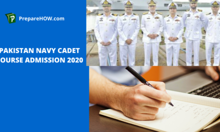 Pakistan Navy cadet course admission 2020