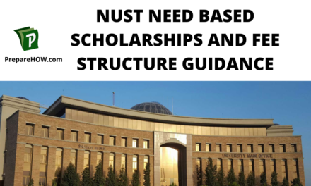 NUST Need Based Scholarships  and fee structure Guidance