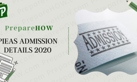 PIEAS ADMISSION DETAILS 2020