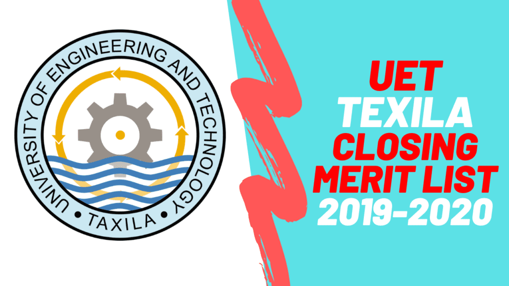 Closing Merit List of UET Taxila 2019 2020 1 | UET taxila merit list 2020 Announced | PrepareHOW