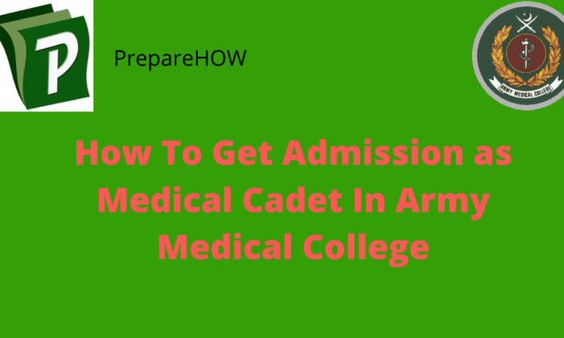 Army Medical College – Medical Cadet Important Information 2020