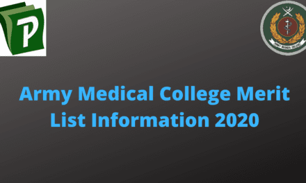 Army Medical College Merit List for PC, MC and NC